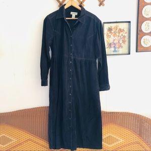 Vintage L.L. Bean • Black Corduroy Dress